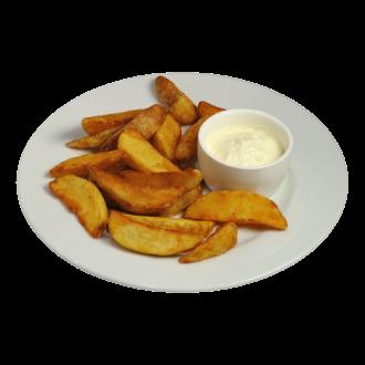 Картофель по-деревенски со сливочным соусом