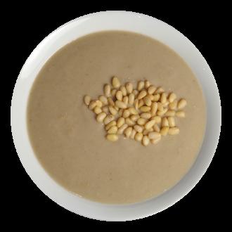 Суп-пюре из шампиньонов с кедровыми орешками